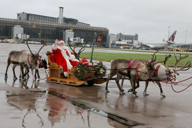 Christmas at Manchester Airport