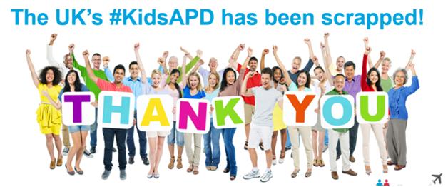 Kids APD Scrapped in UK