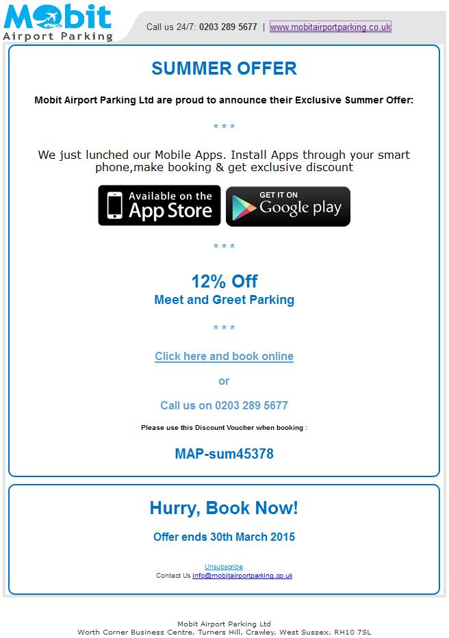 Summer Offer 13 March 2015