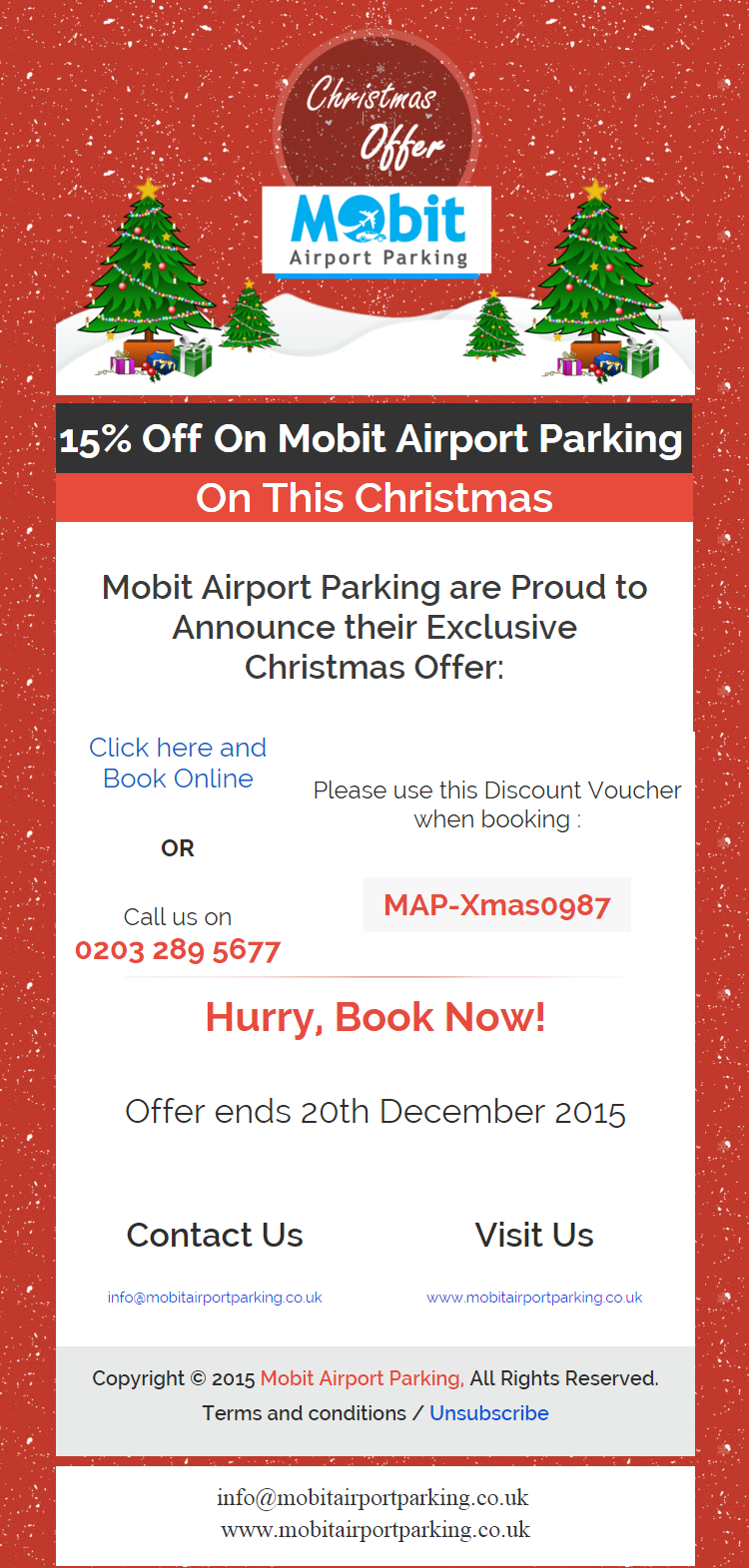 Exclusive Christmas Car Parking Offer 2015