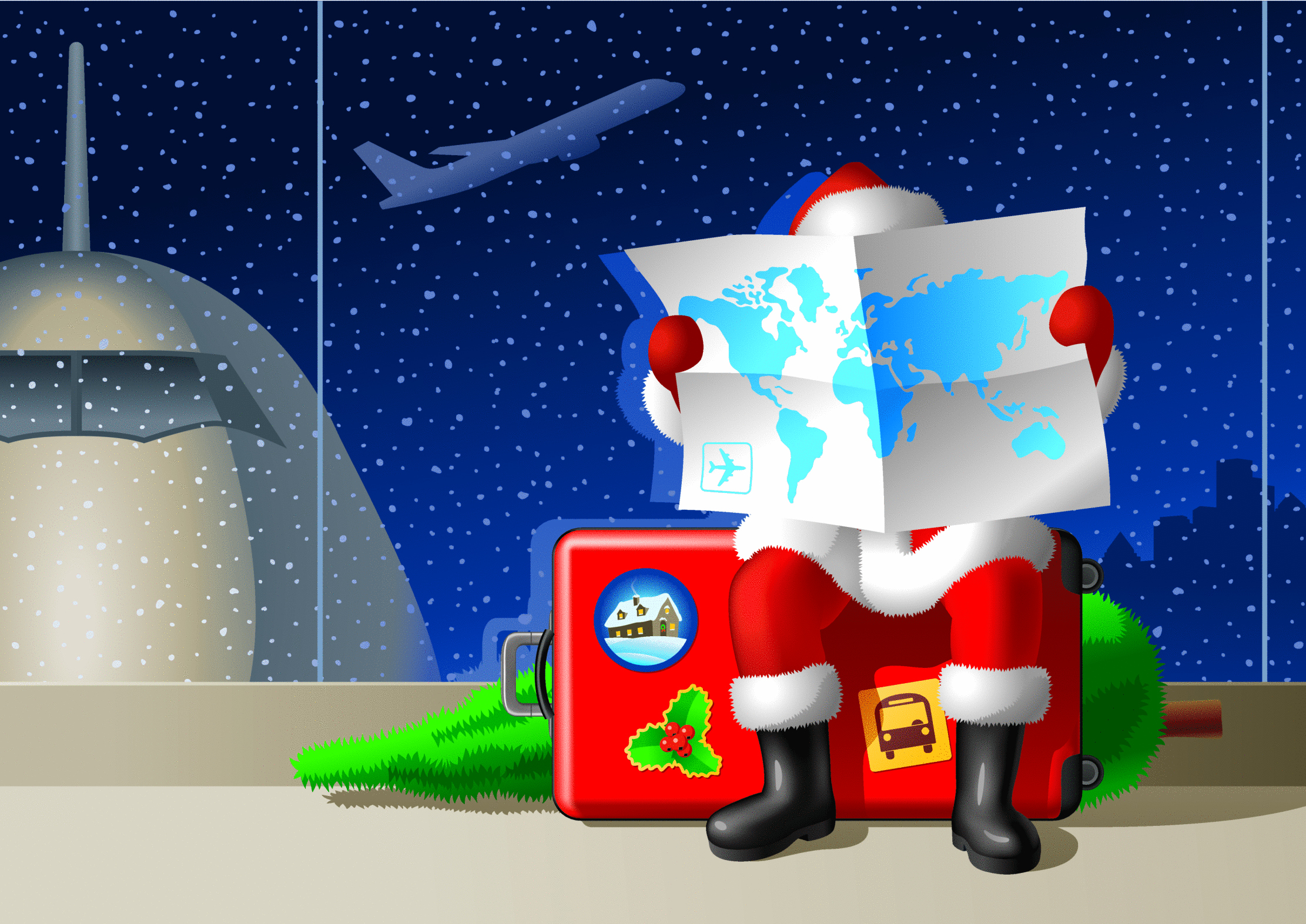Airports on Christmas