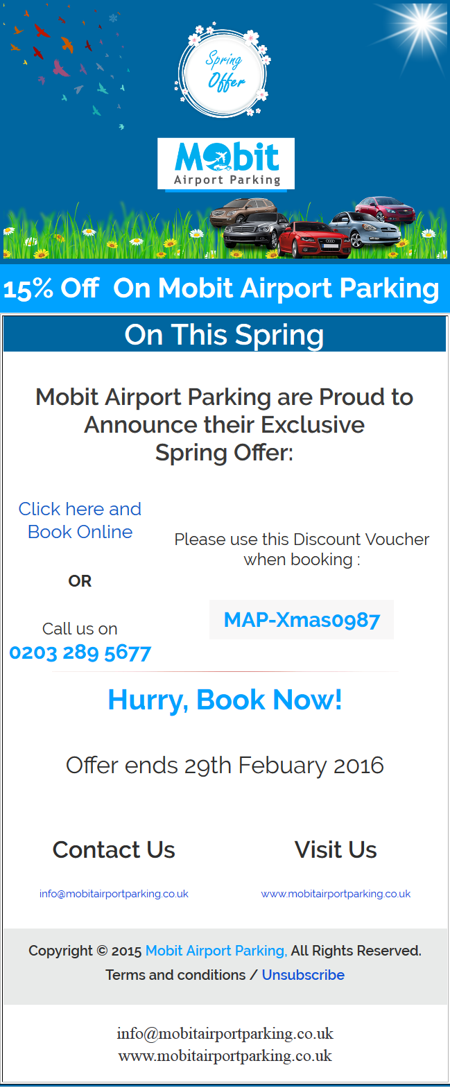 Exclusive Spring Offer 15 February 2016