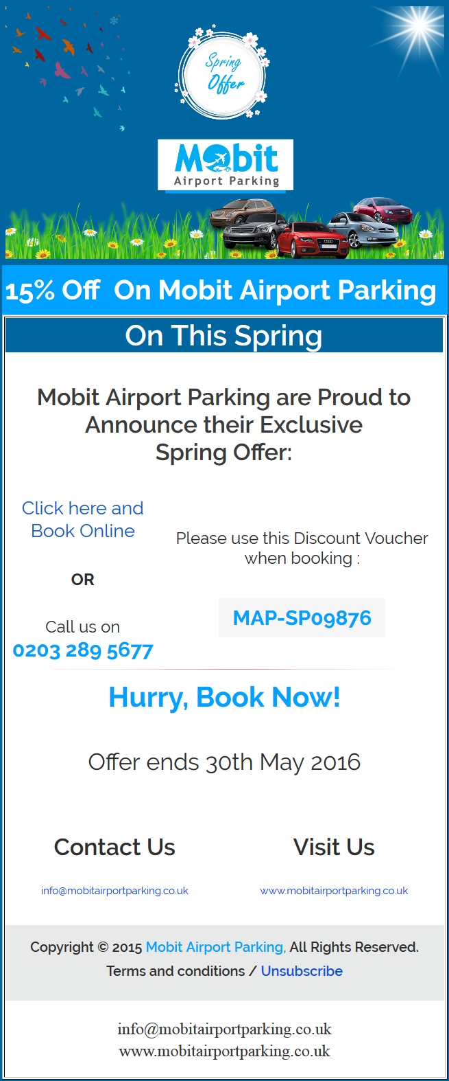 Spring Deal for  Airport Car Parking UK 2016
