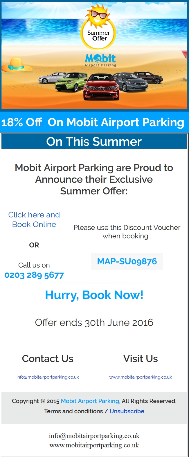 Summer UK Airport Parking Deal 2016