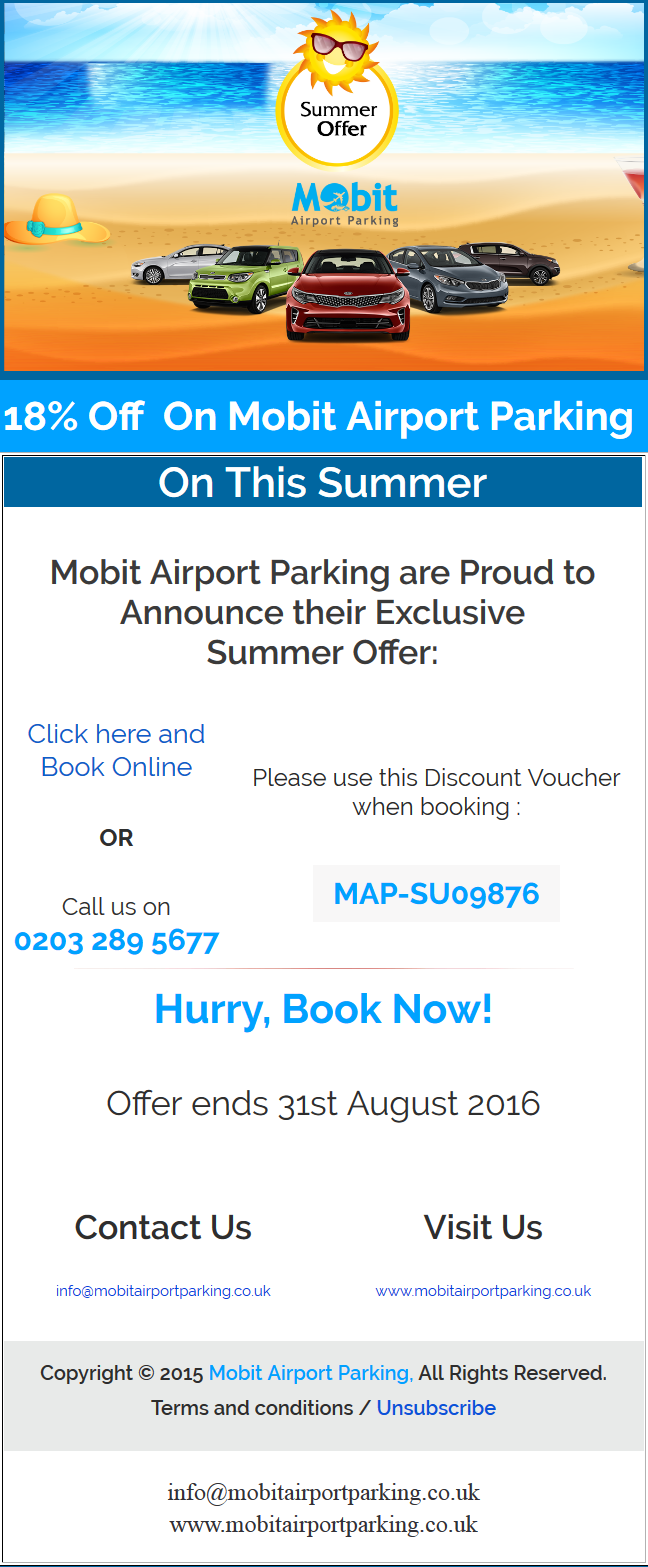 18% Summer Discount 2016