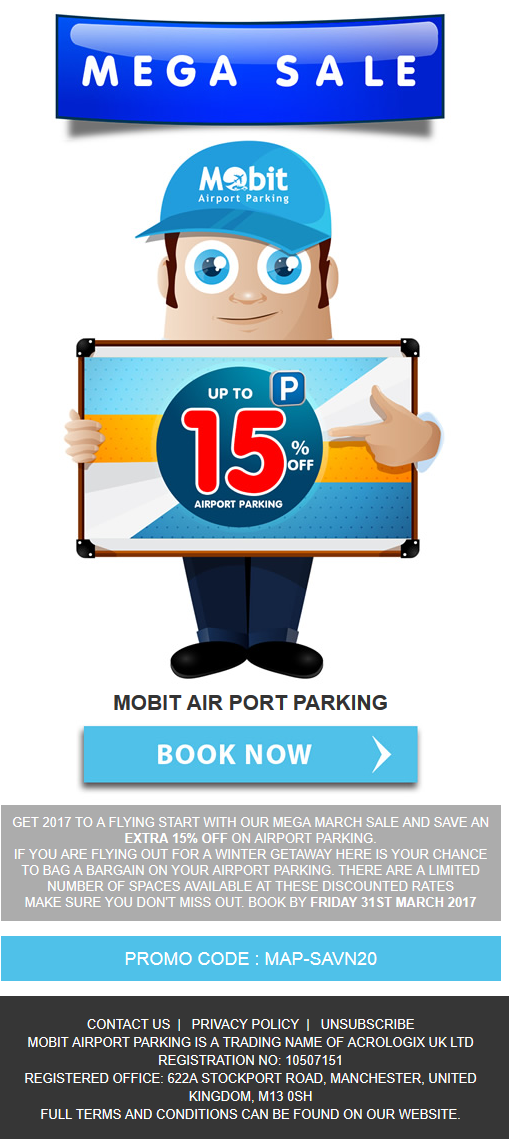 15% Discount on UK Airport Parking Deals
