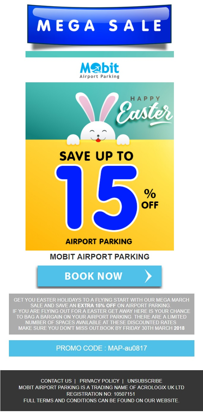 Easter Parking Discount